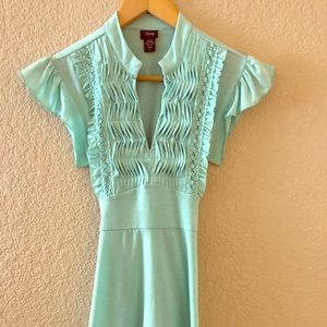 Romantic teal tie back - Small